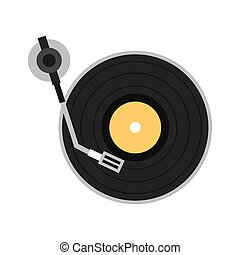 long play disk player icon vector illustration design
