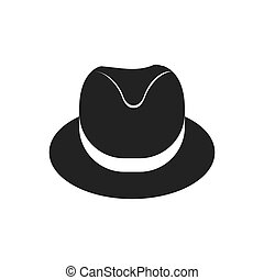 hat cloth male man gentleman icon Vector graphic - hat cloth...