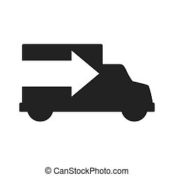 truck arrow transportation delivery shipping icon. Vector...