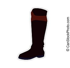 boot horse animal ridding sport hobby icon.Vector graphic -...