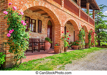 Tuscany Rural house in summer, Italy