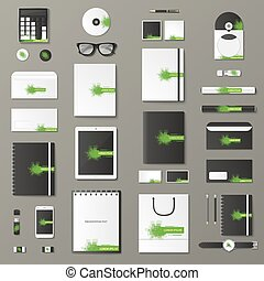 Mock up vector set. - Corporate identity template set....