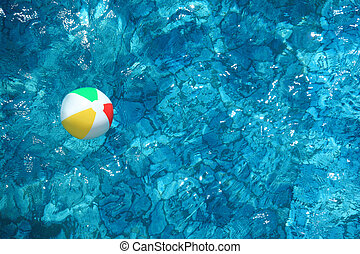 Children\'s ball in water