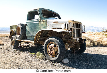 Vintage Automobile Rusting - An old automobile retired and...