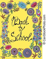 Back to school background colorful