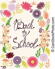 Back to school card - Vector back to school card