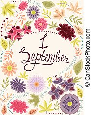 First September background vintage - Vector First September...