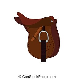 chair horse animal ridding sport hobby icon. Vector graphic...