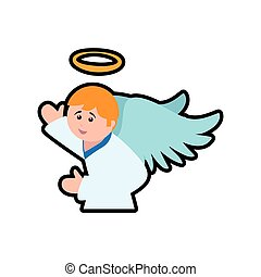 angel cartoon fairy wing heaven icon Vector graphic - angel...