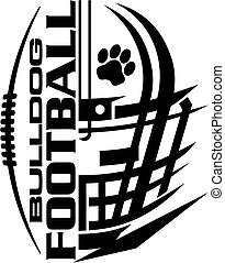bulldog football team design with helmet and facemask for...