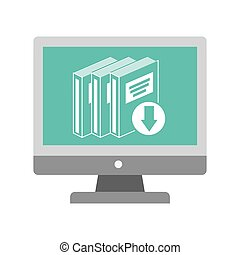 electronic book online icon vector illustration graphic