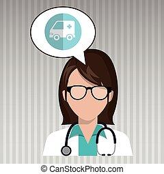 nurse tooth sick pain vector illustration eps 10