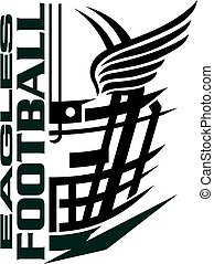 eagles football team design with helmet and wings for...