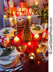Dinning room at Christmas Eve