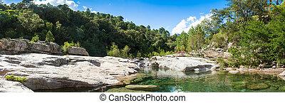 Cavu natural pool near Tagliu Rossu and Sainte Lucie in...