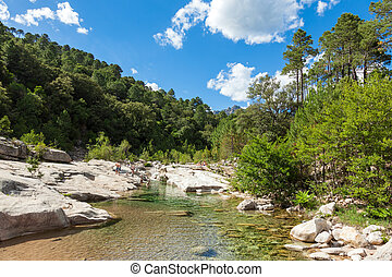 Cavu natural pool near Tagliu Rossu and Sainte Lucie in...