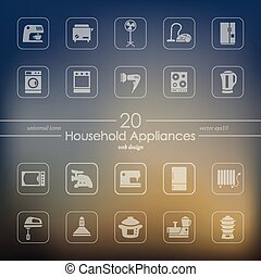 Set of household appliances icons - household appliances...