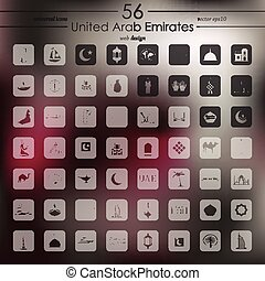 Set of United Arab Emirates icons - United Arab Emirates...