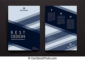 Set of brochure, poster design templates in business style -...