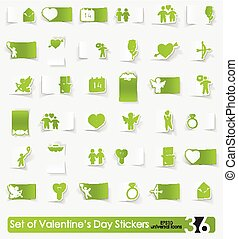 Set of Valentines Day stickers - Valentines Day vector...