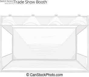 Trade Show Booth. - Abstract Rough Sketch of empty Trade...