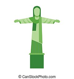 corcovado christ isolated icon vector illustration design