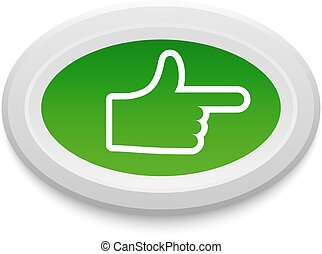 Ok like button vector set - Ok like button, yes symbol...