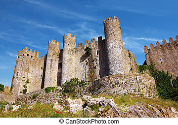 Obidos Castle - Medieval castle in the portuguese village of...