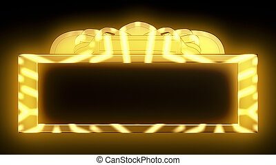 Gold Theatrical Marquee - Sparkling gold theatrical marquee