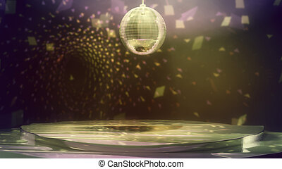 Stuffy Disco Dance Floor with Sparkling Colorful Lights
