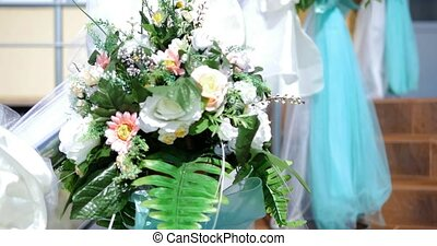 Floral arrangement with beautiful flowers.