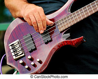Electric bass guitar.