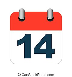 calendar 14 february icon vector illustration graphic