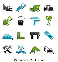 construction tools icons - Building and construction tools...