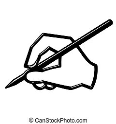 3D Hand Writing - 3d hand writing isolated in white