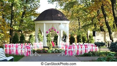Beautiful outdoor place for wedding ceremony