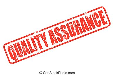 QUALITY ASSURANCE red stamp text