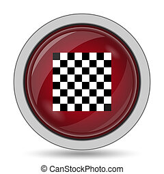 Finish flag icon Internet button on white background