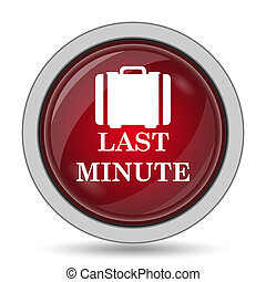 Last minute icon Internet button on white background