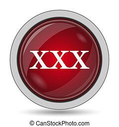 xxx icon. Internet button on white background.
