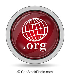 .org icon. Internet button on white background.