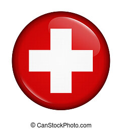 icon with flag of Swiss isolated on white background