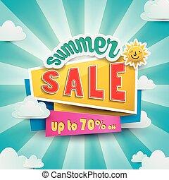 Summer bargain sale poster