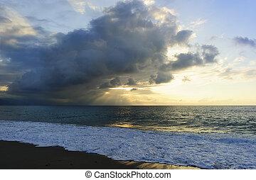 Ocean Sunset Sun Rays