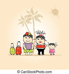 Family travel, summer holiday