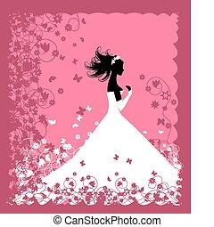 Bride Wedding illustration for your design