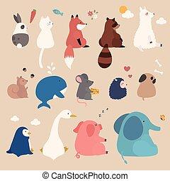 godny podziwu, komplet, Zwierzęta