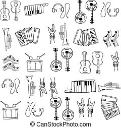 Hand draw music doodles