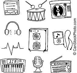Music element set doodles