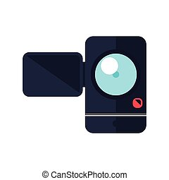 videocamera gadget technology photography icon Vector...